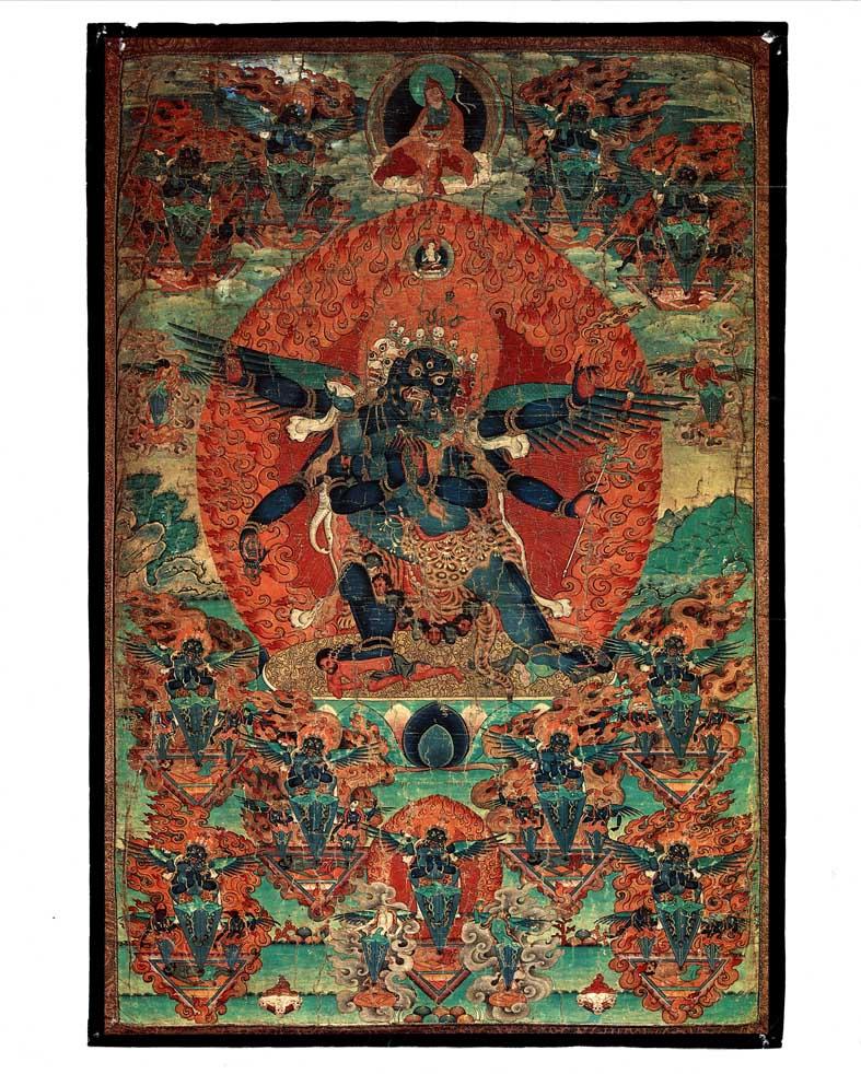 Ваджракилайя (от Ламы Еше). Старинная Тханка