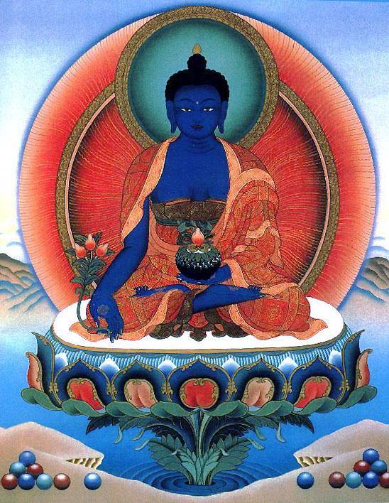 Будда медицины король лазуритового